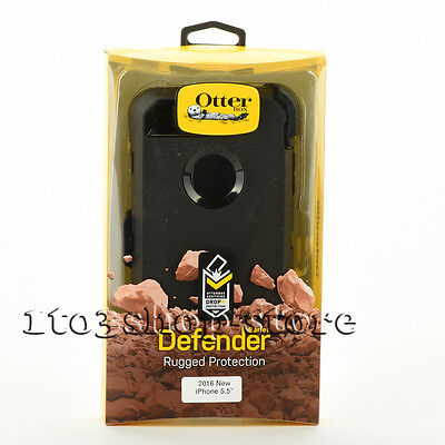 OtterBox Defender iPhone 7 Plus / iPhone 8 Plus Hard Case w/Belt Clip Black Used
