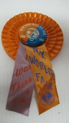 Rare Vintage New York Worlds Fair UNISPHERE~1964-65 Souvenir Pin/Button~Name Tag