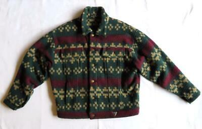 VINTAGE JACKET Guess GEORGES MARCIANO South West Tribal BLANKET Coat Wool Blend