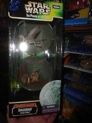 Star Wars Power Of The Force Complete Galaxy Series- Dagobah With Yoda,unopened