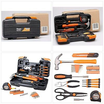 62aa8470a59 CARTMAN Orange 39-Piece Tool Set - General Household Hand Tool Kit with  Plastic