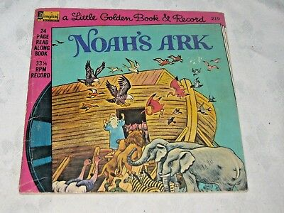 A Vintage 1976 Walt Disney Noah's Ark 33 1/3 rpm Children's Book & Record No 219
