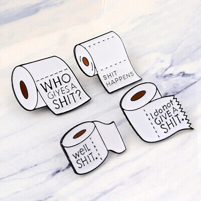 Funny Shit Happens Roll Paper Enamel Lapel Pins Badges Brooches Jewelry Gifts For Cloth Backpack Accessories Home & Garden