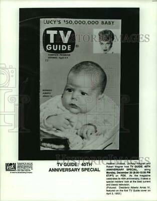 1993 Press Photo TV Guide cover with Lucille Ball and her baby Desi Arnaz IV