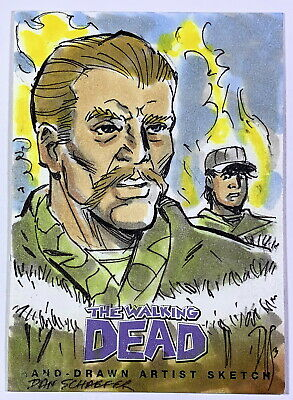 "2013 Cryptozoic Walking Dead Comic Set 2 ""Abraham"" Sketch Card by Dan Schaefer"