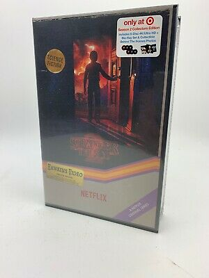 Stranger Things Season 2 Collectors Edition VHS Case, 6-Disc 4K UHD/ Blu-ray NEW