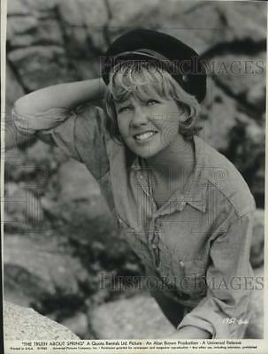 "1965 Press Photo Actress Hayley Mills in a scene from ""The Truth About Spring"""