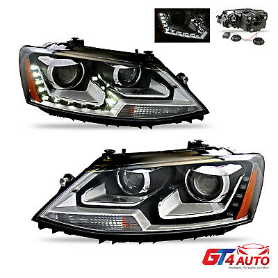 Projector Headlights Pair With Led Drl For 2017 Vw Jetta Mk6