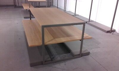 Display Stand..timber & Steel...display Table With Under Shelves..
