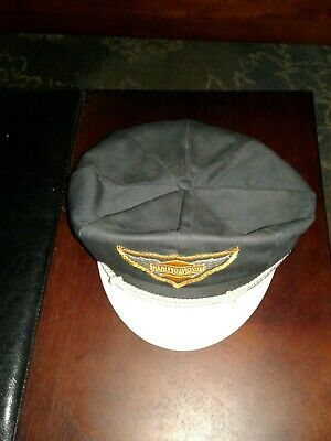 7e6cdeee23b Vintage 1940 s 1950 s Harley Davidson Captains Hat Cap 7 1 4 KNUCKLEHEAD  PANHEAD.  250.00 Buy It Now 27d 10h. See Details. Harley Davidson Captains  Hat