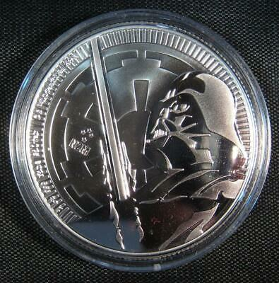 2018 Niue Star Wars Classic - Darth Vader Lightsaber 1 oz Silver $2 Coin GEM BU