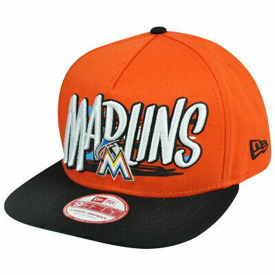 more photos 1d24a 652ab New Era 9Fifty 950 MLB Miami Marlins NE Pinna Snapback Hat Cap A Frame S