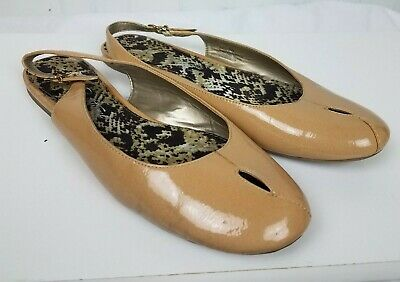 c0ffb1c0ab9881 SE Boutique Sam Edelman BeeCee Nude Peep Toe Sling Flats Size 9.5M Tan Shoes