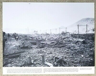 Vintage 11x14 Photograph: Ruins of Nagasaki Japan after nuclear bomb attack