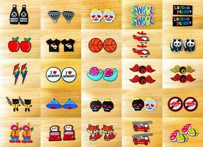 Awesome Set 2 Mini Cute Cartoon Sew IRON-ON PATCH Embroidered Applique Store(2)