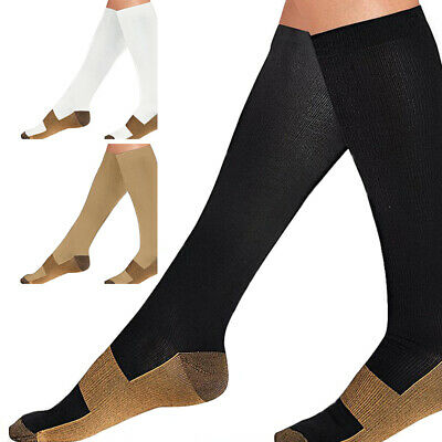 Unisex Leg Socks Relief Compression Pain Knee Foot Support Sports Vein Stockings