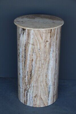 Tall impressive solid onyx pedestal column plinth marble antique Art Deco stand