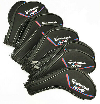11PCS Black Neoprene Taylormade M4 Iron Golf Club Long Zipped Covers HeadCovers