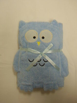 Cuddles Baby/Babies Bath/Bathtime Towel ~ Owl Design ~ BLUE