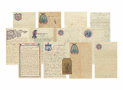Archive of 12 Civil War Letters by Corp. Wm. B. Smith, 3rd New Jersey Regt + CDV