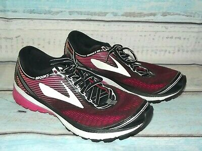 5a115a90f18594 BROOKS GHOST 10 Black Pink Running Sneakers Womens Size 9.5 M ...