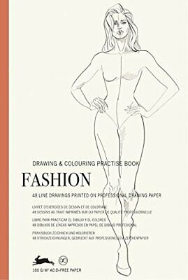 Drawing & Colouring Practise Books - Fashion - 48 sheets 168x250mm