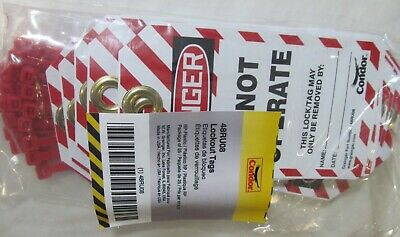 25-Pack New Condor 48Ru08 Plastic Do Not Operate Lockout Tags With Zip Ties