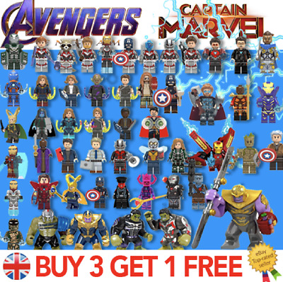 Avengers Minifigures / End Game / Captain Marvel Superheroes Fits Lego & Custom