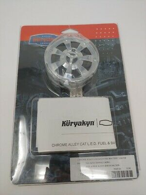 Kuryakyn Chrome Alley Cat LED Fuel and Battery Gauge - 7381 - NEW