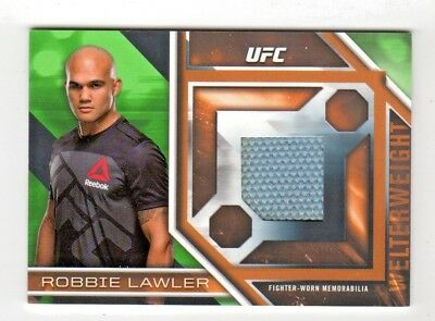 Robbie Lawler 2017 Topps Ufc Knockout Fight Mat Relics Green      # 47/50