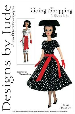Going Shopping Doll Clothes Sewing Pattern for Silkstone Barbie