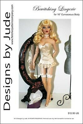 "Bewitching Lingerie Doll Clothes Sewing Pattern 16"" Curvaceous DeeAnna Tonner"