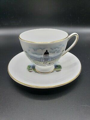 PARLIAMENT BUILDING ROYAL STANDARD tea set/ Fine Bone China England box 3-11