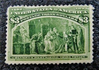 nystamps US Stamp # 243 Mint $1600