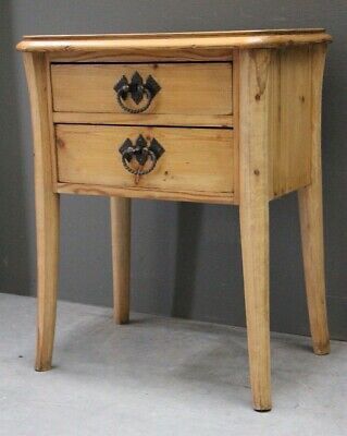 Antique provincial lamp table bedside chest cabinet Scandinavian wine table pine
