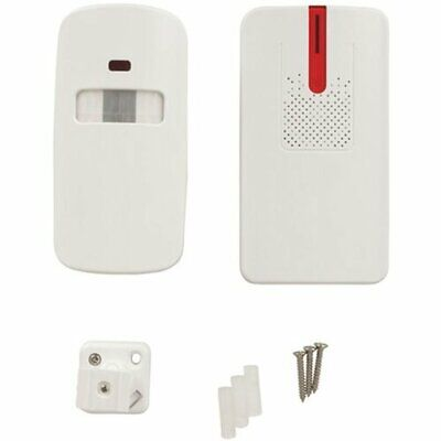 Wireless Battery Powered Driveway Mounted & Entry PIR Alert Kit with LED Light