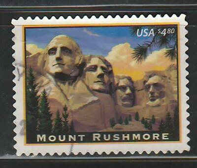 Mount Rushmore $4.80 Priority Mail 2008, Sc 4268, second, used, off paper