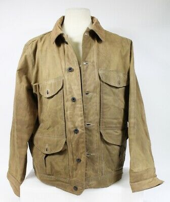 09efa5c7737d0 FILSON DOUBLE LOGGER Tin Cloth Coat Style # 63 Unlined Size XXL well ...