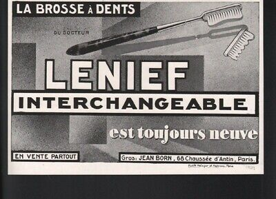 1929 Lenief Tooth Brush Head Paste Dental Hygiene Doctor Paris French 21732