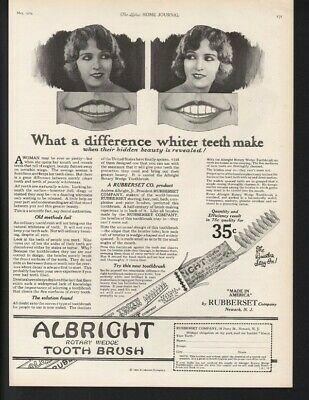 1924 Albright Tooth Brush Dental Hygiene Dentist Wedge Teeth Health White 22033