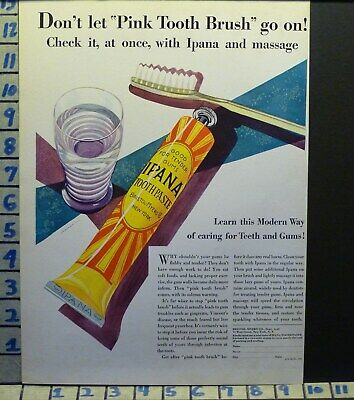 1931 Ipana Tooth Paste Dental Hygiene Dentist Teeth Brush Health   H64