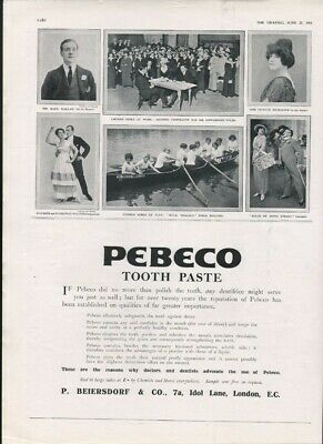 1914 Peebeco Tooth Paste Brush Dental Sing Dance Music Chorus Boat Act 20171