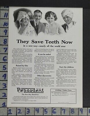 1921 Pepsodent Dental Toothpaste Chicago Medicine Dentistry  Ad Zl04