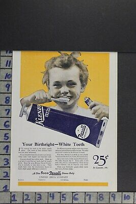 1920 Klenzo Dental Toothpaste Rexall United Drug Co Medicine  Ad Zl019