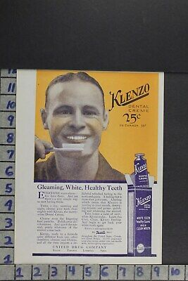 1920 Klenzo Dental Toothpaste Rexall United Drug Co Medicine  Ad Zl022