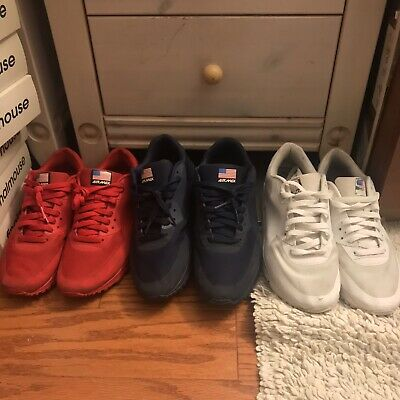 sports shoes 5b6db 310a5 Nike Air Max 90 HYPERFUSE White INDEPENDENCE DAY Sz 9