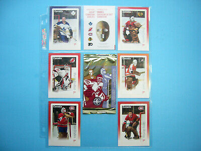 2015 Canada Post Postage Stamp Card Set Great Canadian Goalies Ken Dryden Sharp+