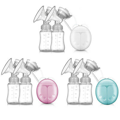 Electric Hand Free Double Breast Pump Automatic Intelligent Baby Feeder USB TRAN