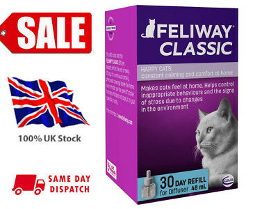 FELIWAY CLASSIC 30 Day Diffuser Refill Pakc of 1 For Starter Kit 48ml