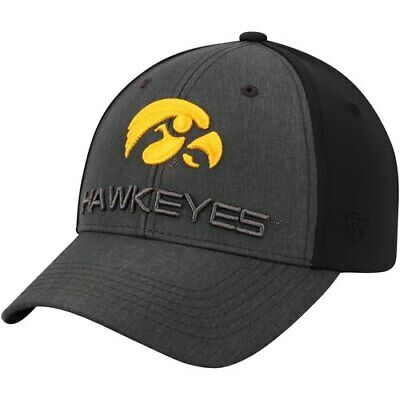 cheap for discount 7ef4f 2e0f3 Top of the World Iowa Hawkeyes Charcoal Black Reach Structured Adjustable  Hat